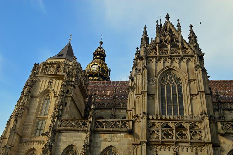 St伊丽莎白的大教堂或Dà ³ m svätej AlÅ ¾ bety科希策斯洛伐克 免版税库存照片
