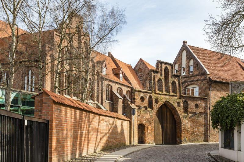 St凯瑟琳的修道院,施特拉尔松德,德国 免版税库存照片