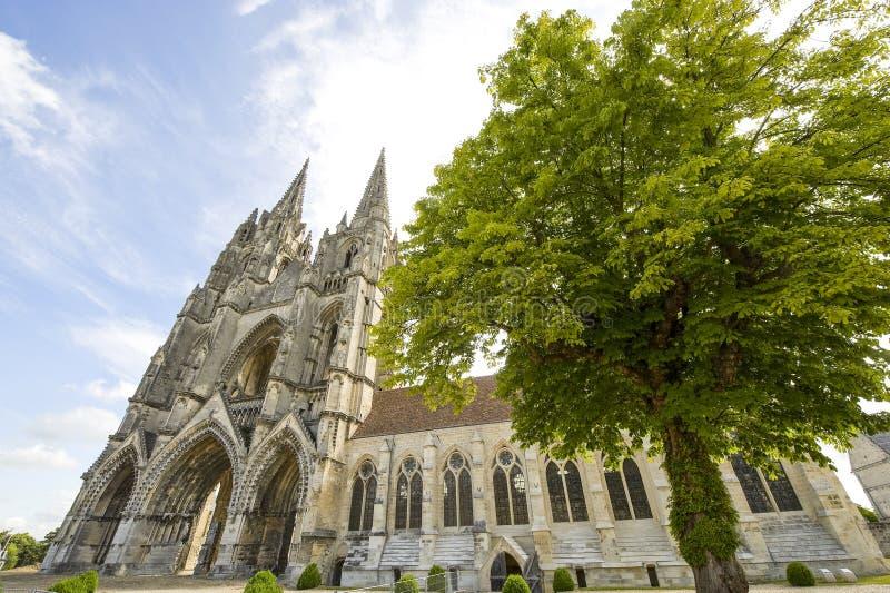 St吉恩des Vignes修道院在Soissons的 免版税库存图片