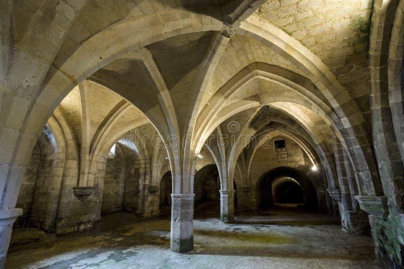 St吉恩des Vignes修道院在Soissons的 免版税库存照片