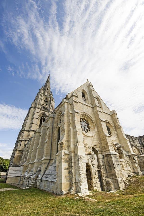 St吉恩des Vignes修道院在Soissons的 图库摄影