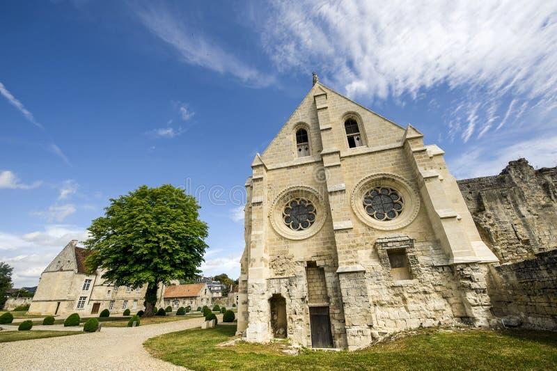 St吉恩des Vignes修道院在Soissons的 库存图片