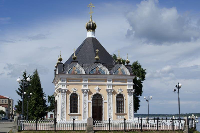 St尼古拉斯教堂在雷宾斯克雅罗斯拉夫尔市地区俄罗斯 免版税库存图片