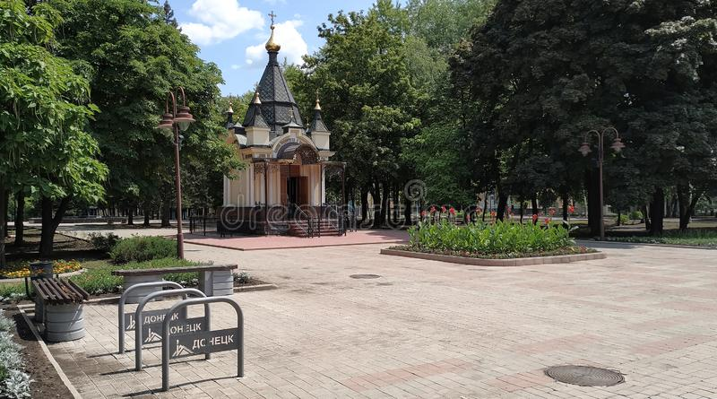 St巴巴拉教堂,顿涅茨克 库存图片