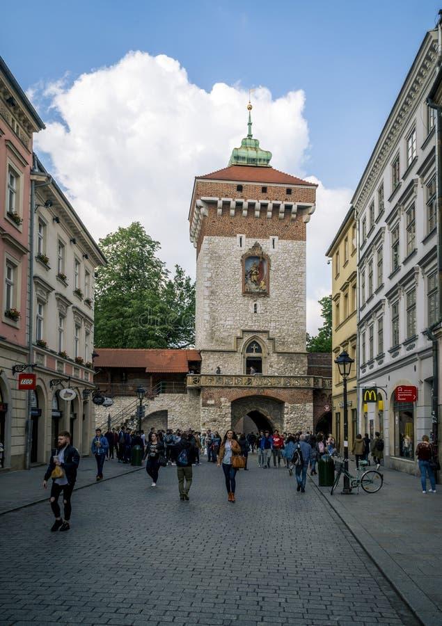 St弗洛里安` s门在克拉科夫 库存照片
