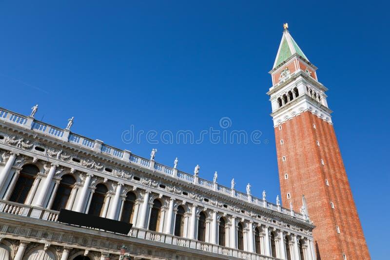 St指示钟楼,钟楼。威尼斯,意大利。 库存图片
