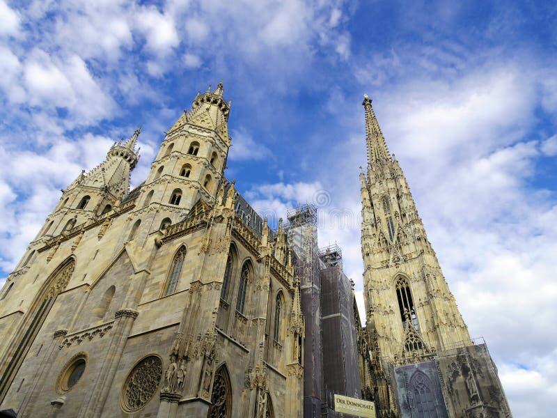 St斯蒂芬大教堂在维也纳奥地利 地标建筑学 免版税库存照片