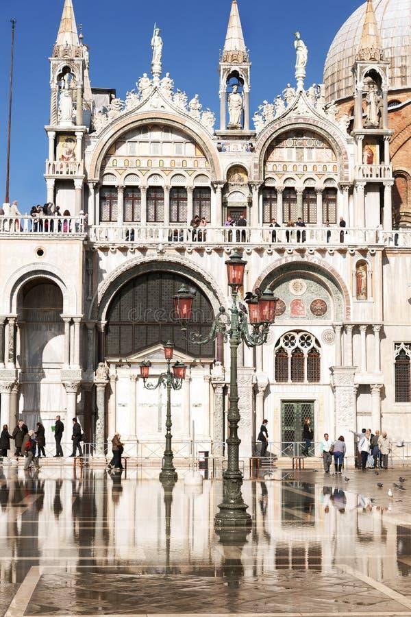 St标记在acqua亚尔他期间的威尼斯意大利, 库存图片