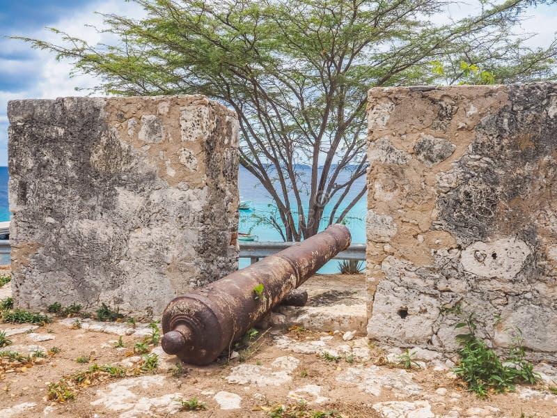 St米谢尔堡垒库拉索岛景色 免版税图库摄影