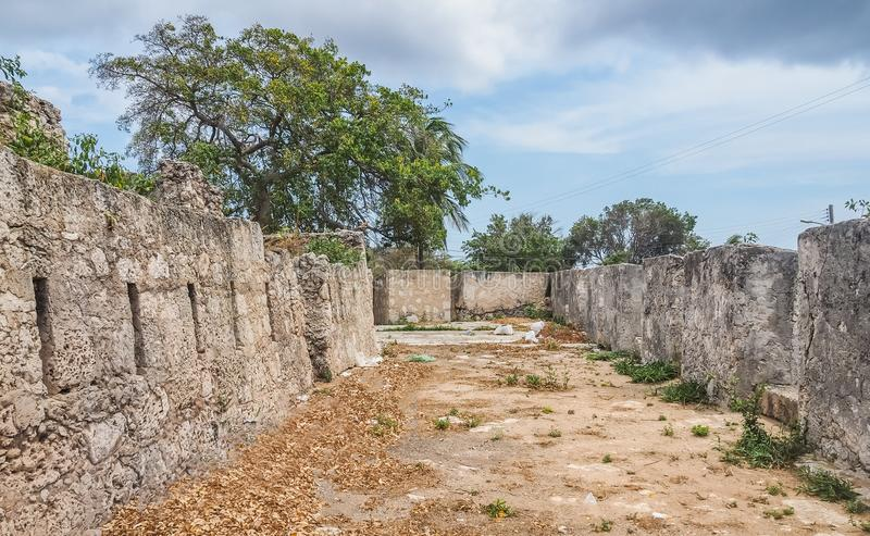 St米谢尔堡垒库拉索岛景色 库存照片