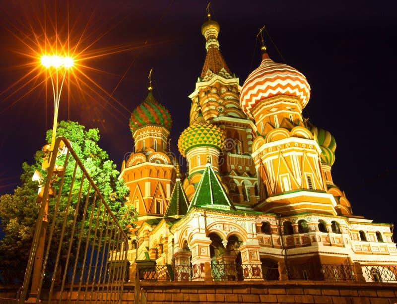 St红场的蓬蒿大教堂在莫斯科 图库摄影