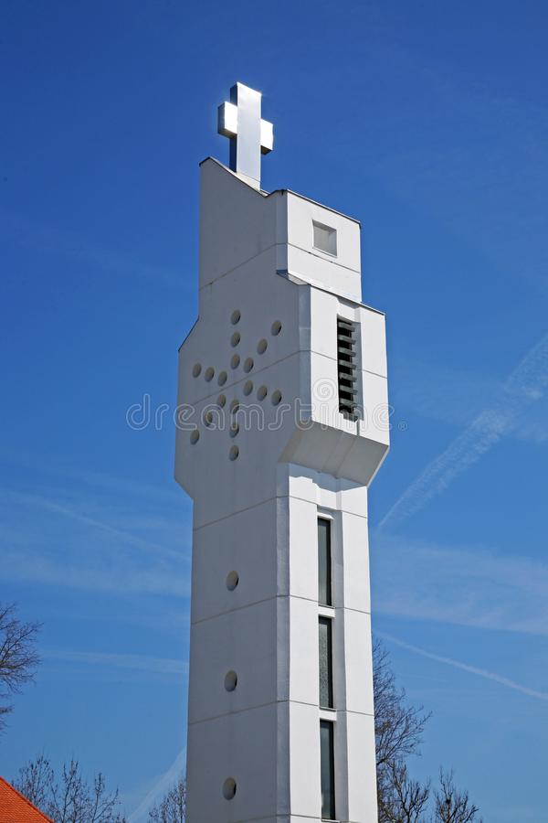 St约斯普圣所在卡尔洛瓦茨,克罗地亚,欧洲 免版税库存图片