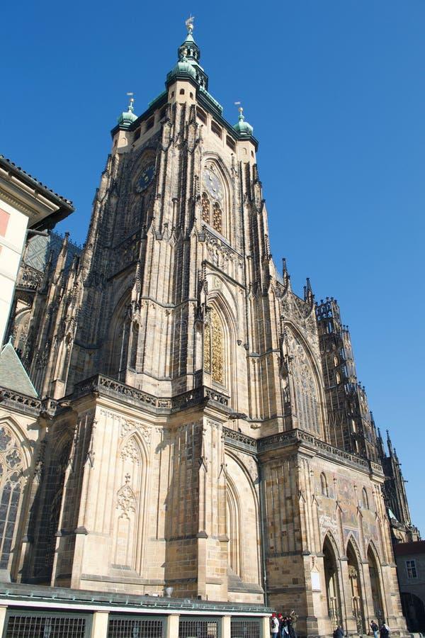 St维塔斯大教堂布拉格城堡南塔 免版税库存照片
