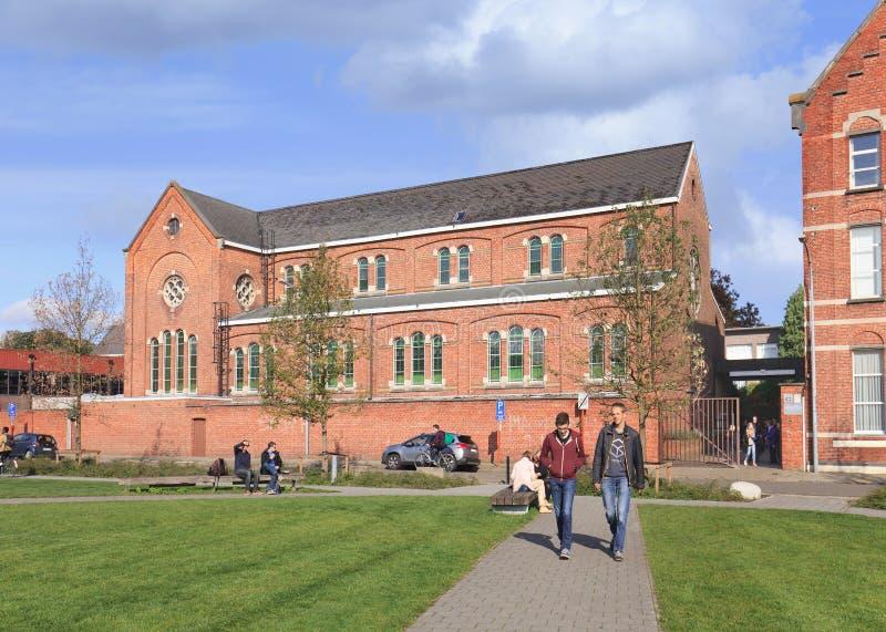 St胜者学校在蒂伦豪特,比利时 免版税图库摄影
