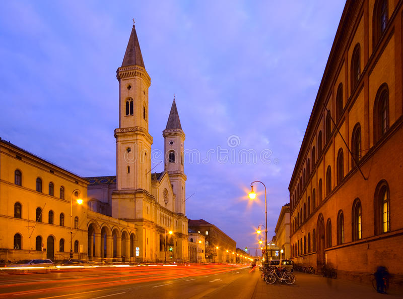 St路德维希的教会在慕尼黑,德国 免版税库存照片