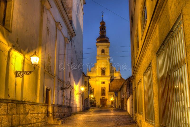 St雅各布或方济会修士教会, Trnava,斯洛伐克 图库摄影