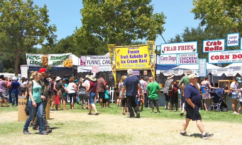 41st årliga vitlökfestival i Gilroy Kalifornien arkivbilder