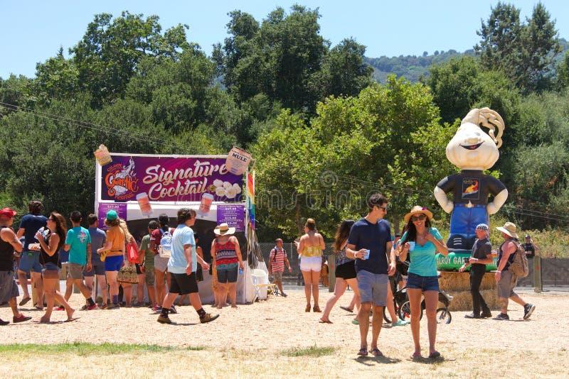 41st årliga vitlökfestival i Gilroy Kalifornien royaltyfria foton