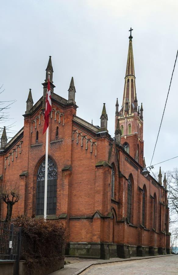 St église de sauveur, Riga image libre de droits