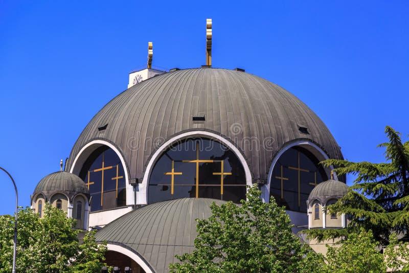 St Łagodny Ohrid lub Kliment Ohridski kościół w Skopje obrazy stock