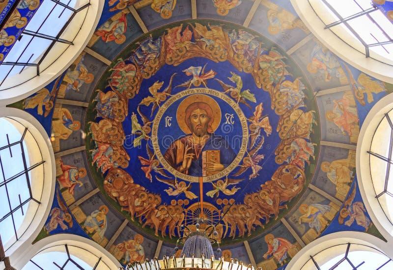 St Łagodny Ohrid lub Kliment Ohridski kościół w Skopje zdjęcie stock