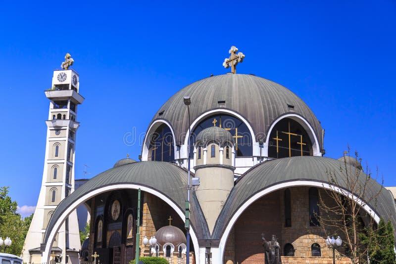 St Łagodny Ohrid lub Kliment Ohridski kościół w Skopje fotografia royalty free