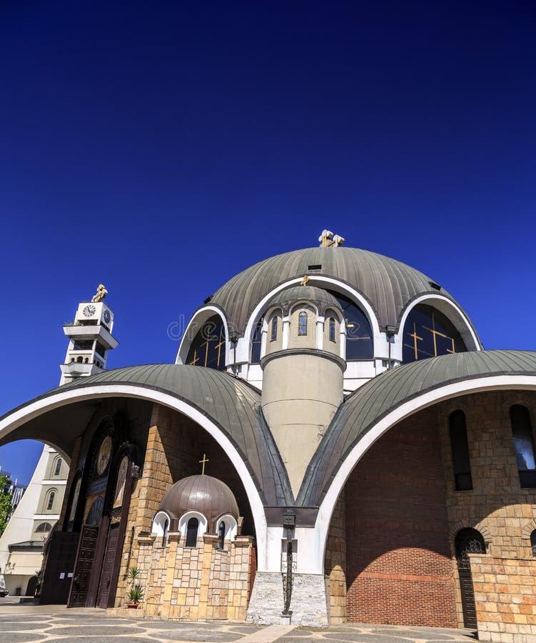 St Łagodny Ohrid lub Kliment Ohridski kościół w Skopje fotografia stock