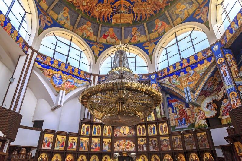 St Łagodny Ohrid lub Kliment Ohridski kościół w Skopje obrazy royalty free