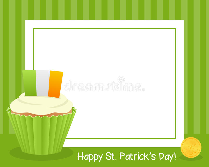 ST Πάτρικ ` s με το οριζόντιο πλαίσιο Cupcake ελεύθερη απεικόνιση δικαιώματος