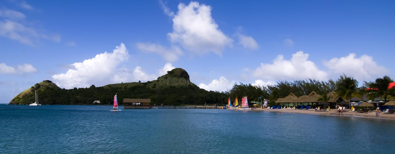 st вихруна lucia острова стоковое изображение rf