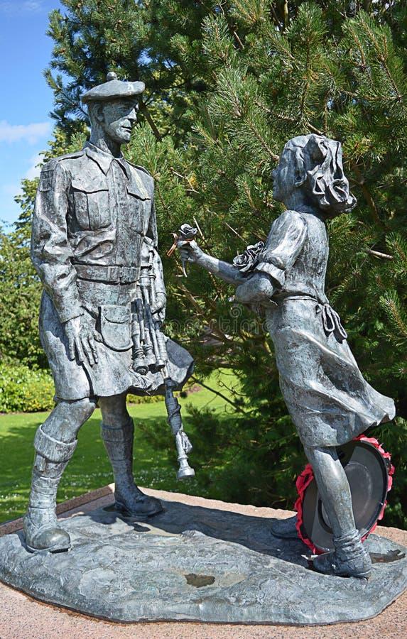 51st военный мемориал разделения гористой местности, северный дюйм, Перт, Шотландия стоковые фотографии rf