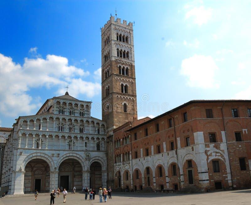 st Италии lucca martin собора стоковое изображение rf