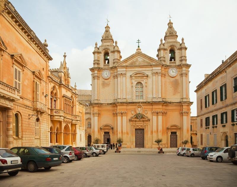 st Паыля peter mdina собора стоковое фото