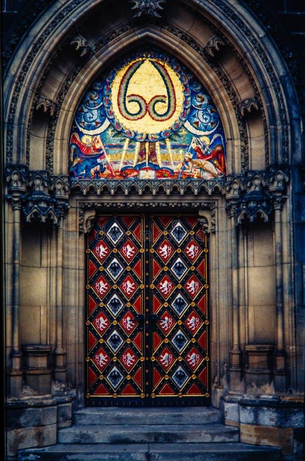 st республики Паыля peter prague чехословакской двери базилики готский главный нео к стоковые изображения