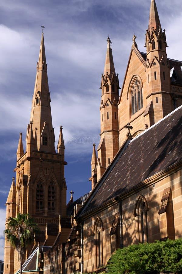 st Сидней mary s собора стоковое изображение rf