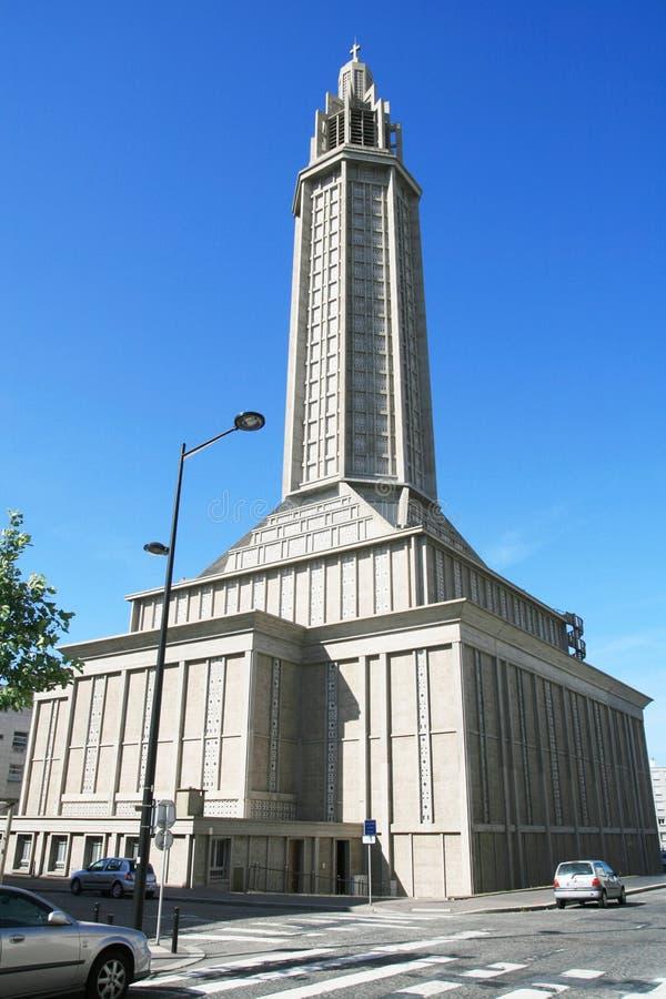 st Франции havre joseph le Нормандии s церков стоковое фото