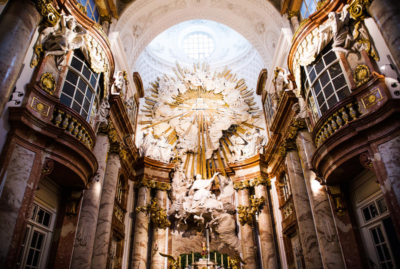 st церков charles алтара стоковые фото