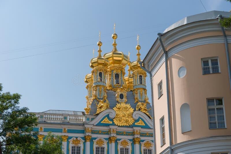 ST 彼得斯堡,俄罗斯- 2017年8月19日:复活的教会 图库摄影