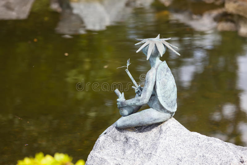 ST 彼得斯堡,俄罗斯- 2016年8月04日:Kappa日本水attr照片  图库摄影