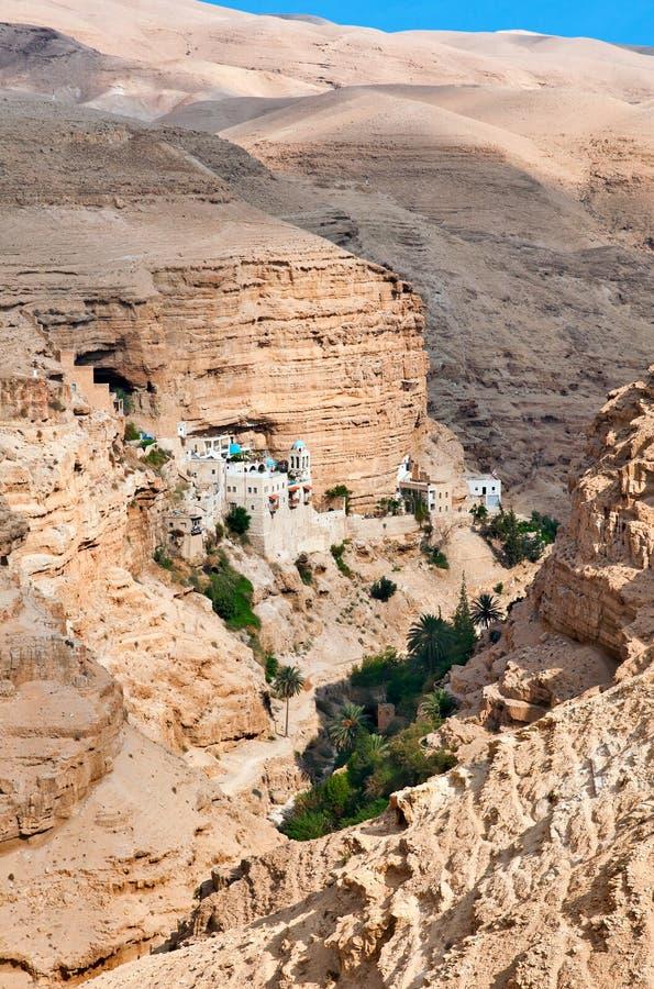 圣乔治修道院在巴勒斯坦。 图库摄影