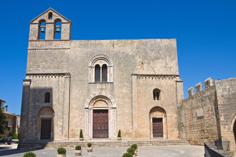 St.玛丽亚在Castello教会。Tarquinia。拉齐奥。意大利。 免版税图库摄影