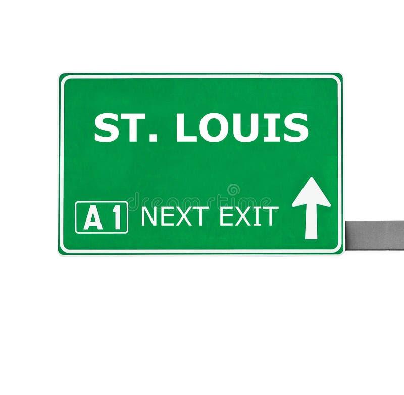 ST 路易斯在白色隔绝的路标 免版税库存图片