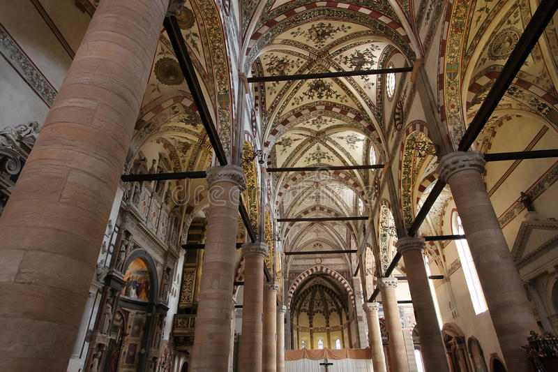 St.阿纳斯塔西娅教会在维罗纳 库存照片
