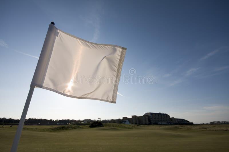 st 1-ого отверстия гольфа флага курса andrews старый стоковое фото rf