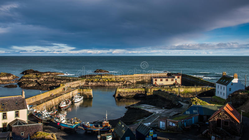 St Abbs Harbour, SCotland stock photo