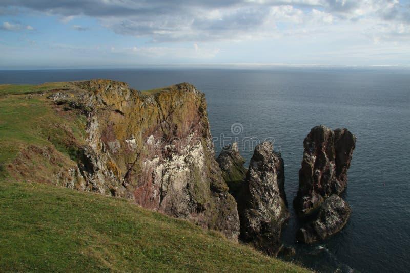 St Abbs, Northumberland y fronteras escocesas imágenes de archivo libres de regalías