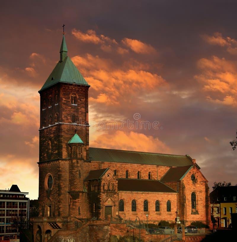 St. Adalbert Aachen royalty free stock photos