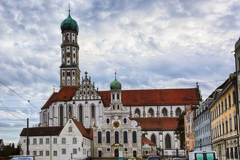 St Afra del und della st Ulrich di Augusta fotografia stock libera da diritti