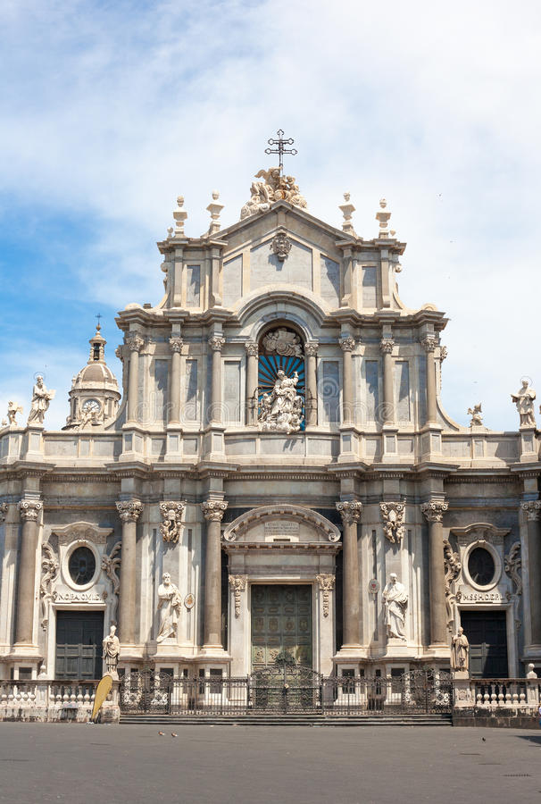 St. Agatha Cathedral in Catania stockfotos