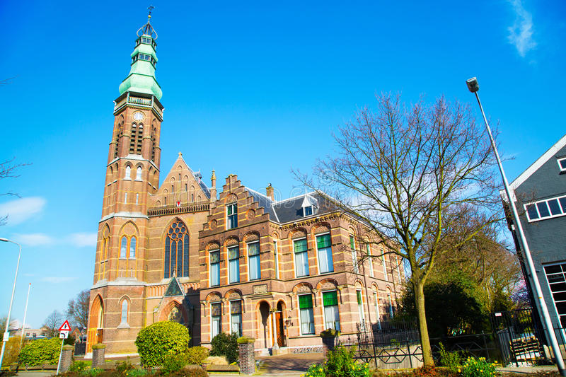 St. Agatha church in Lisse, the Netherlands stock photography